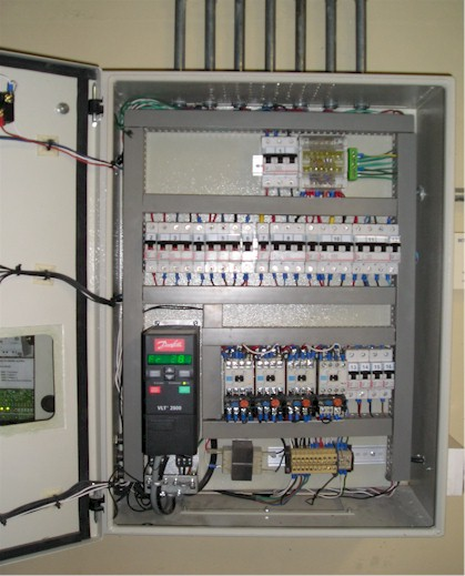 Tablero control de potencia para climatización, agua caliente y seguridad