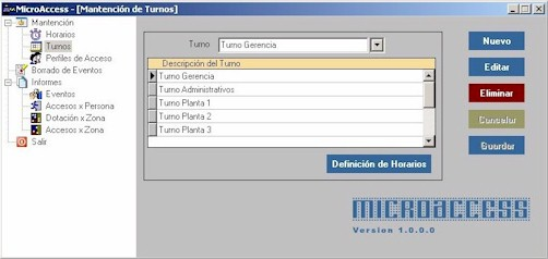 MicroAccess Programa para la gestión de equipos control de acceso.