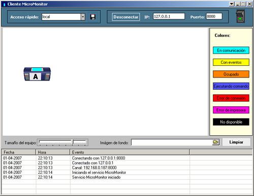 MicroMonitor Programa de monitoreo e interacción de equipos MicoControl