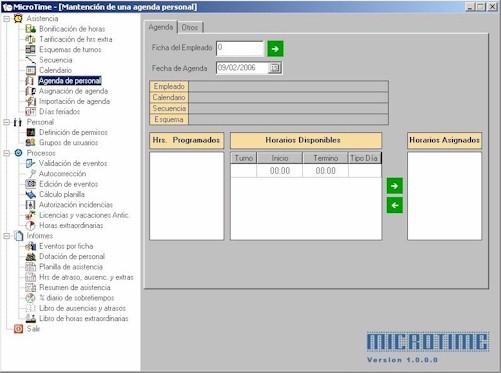 MicroTime Programa de control y gestión de asistencia relojes control MicroControl